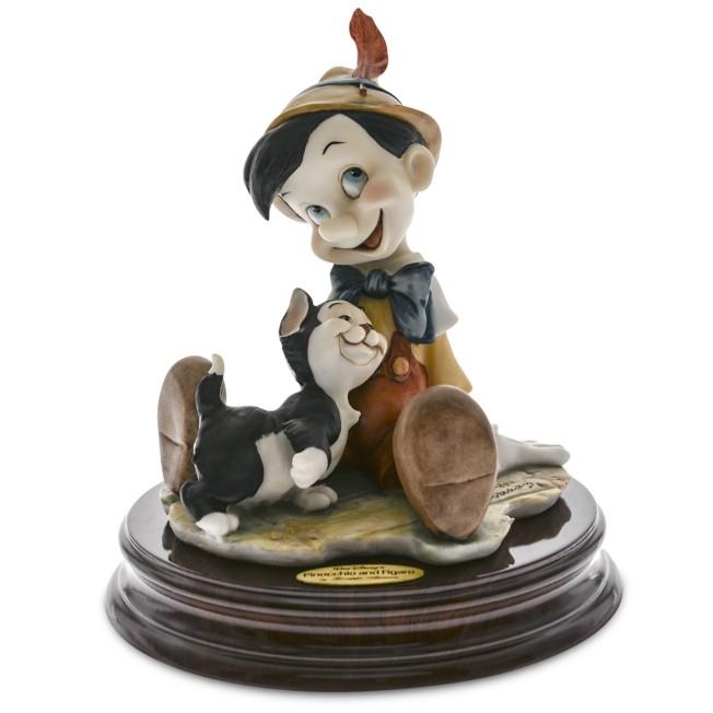 Pinocchio and Figaro Figure by Giuseppe Armani
