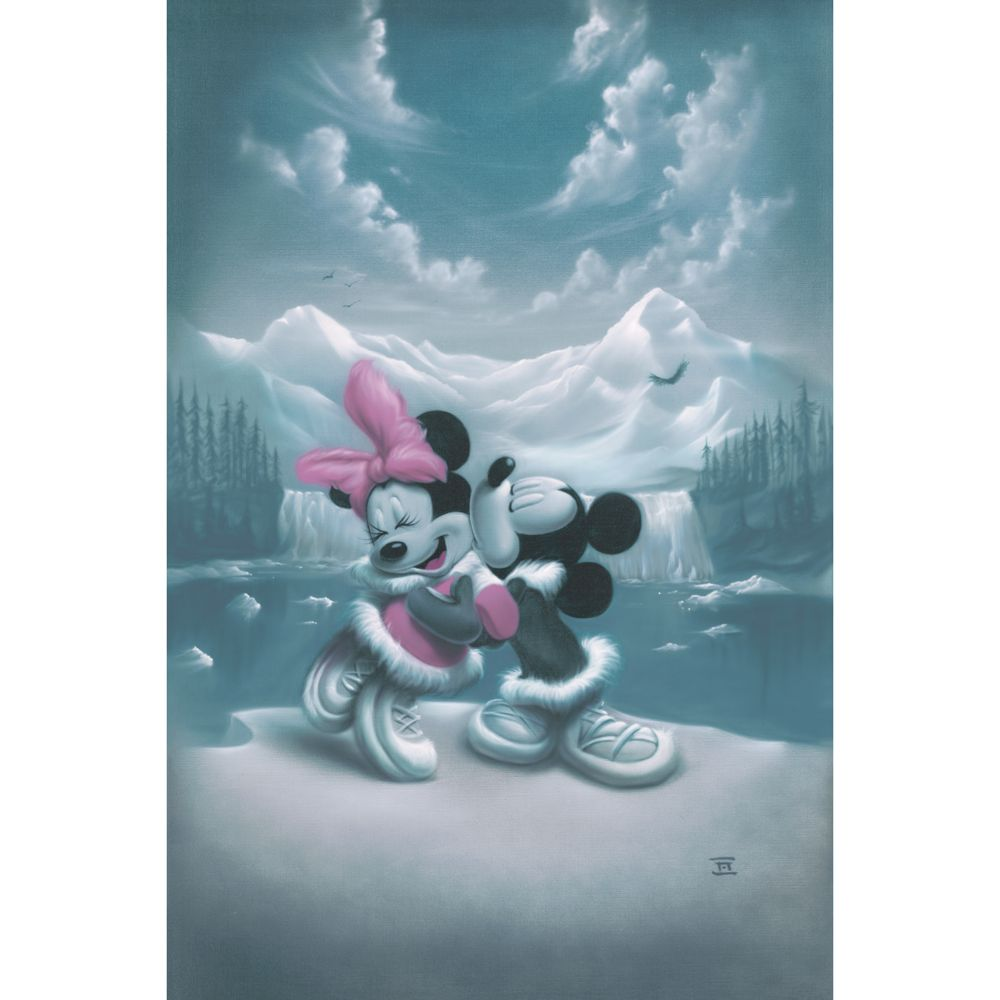 Mickey Mouse and Minnie ''Alaska Adventure'' Giclée by Noah Official shopDisney