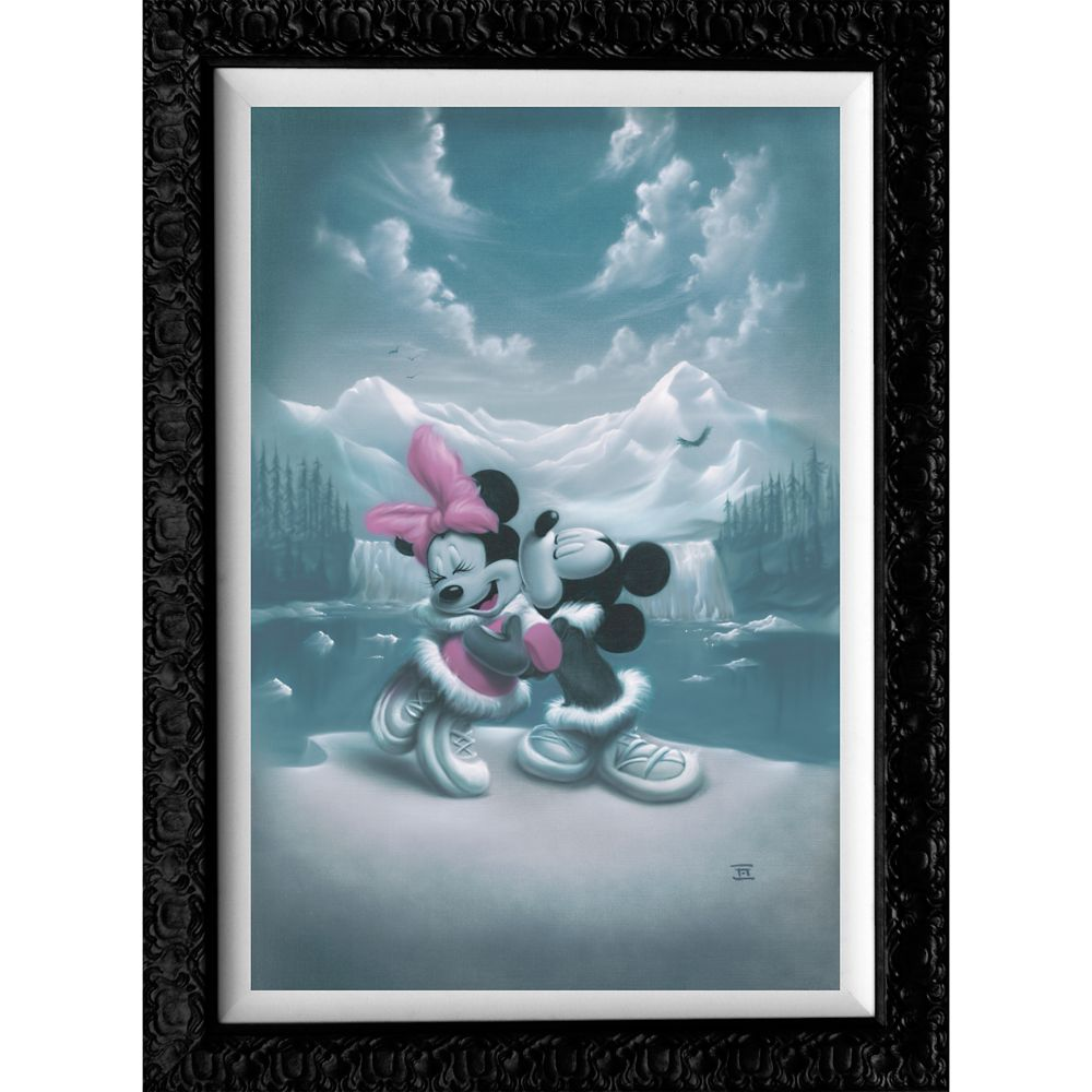 Mickey Mouse and Minnie ''Alaska Adventure'' Giclée by Noah