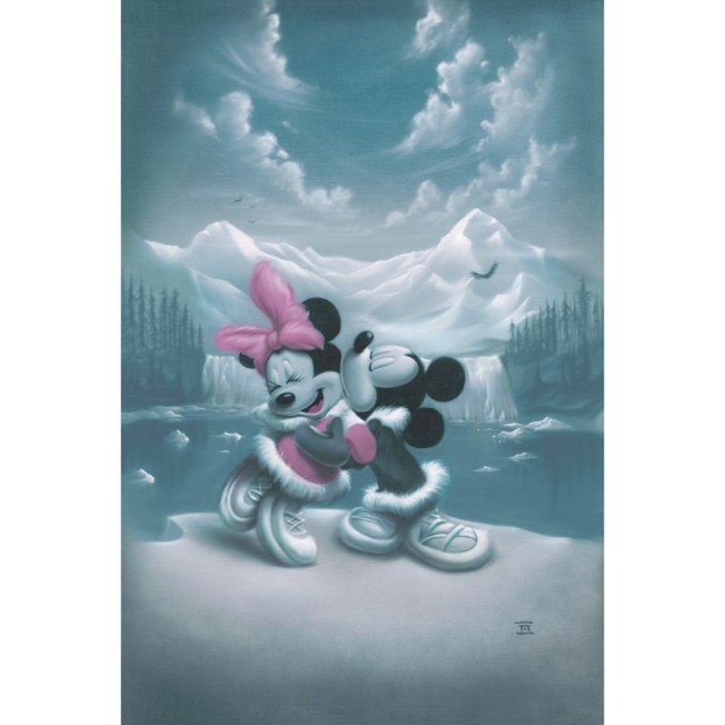 Mickey Mouse and Minnie ''Alaska Adventure'' Giclée by Noah