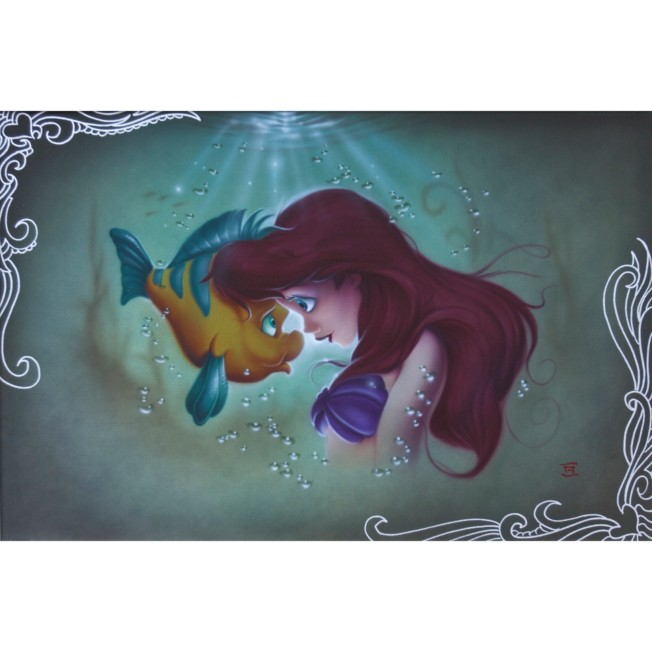 The Little Mermaid ''Ariel Flounder'' Limited Edition Giclée by Noah