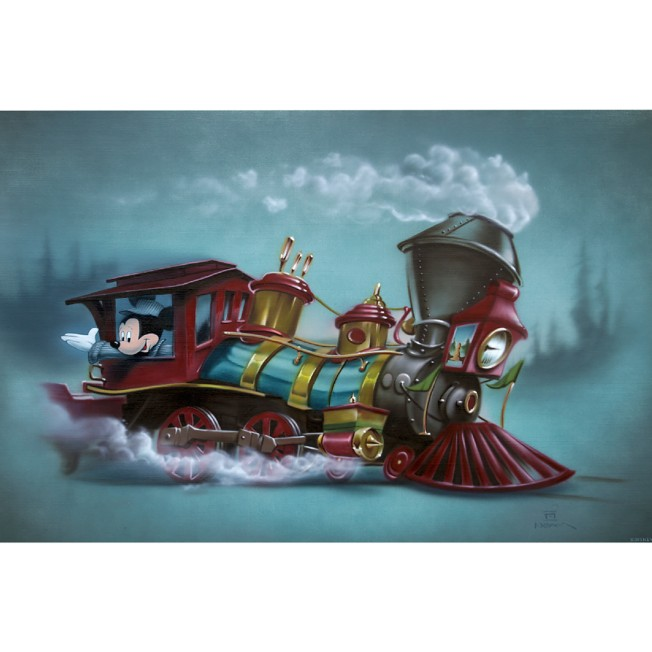 Mickey Mouse ''Little Engin'ear'' Limited Edition Giclée by Noah