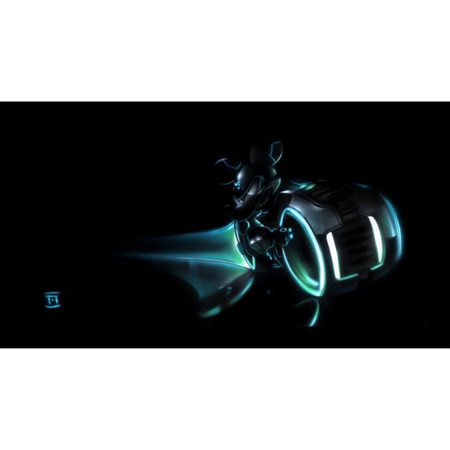 ''Mickey LightCycle'' Giclée by Noah