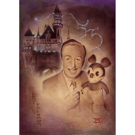 ''Walt and Mickey 55th'' Giclée by Noah