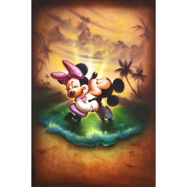 Mickey Mouse and Minnie ''Life With You Is a Dream'' Giclée by Noah
