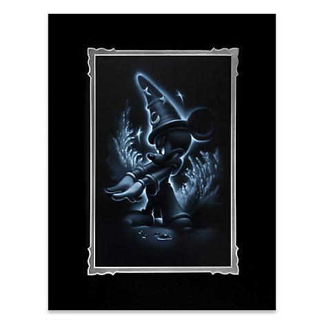 ''Sorcerer Mickey'' Deluxe Print by Noah