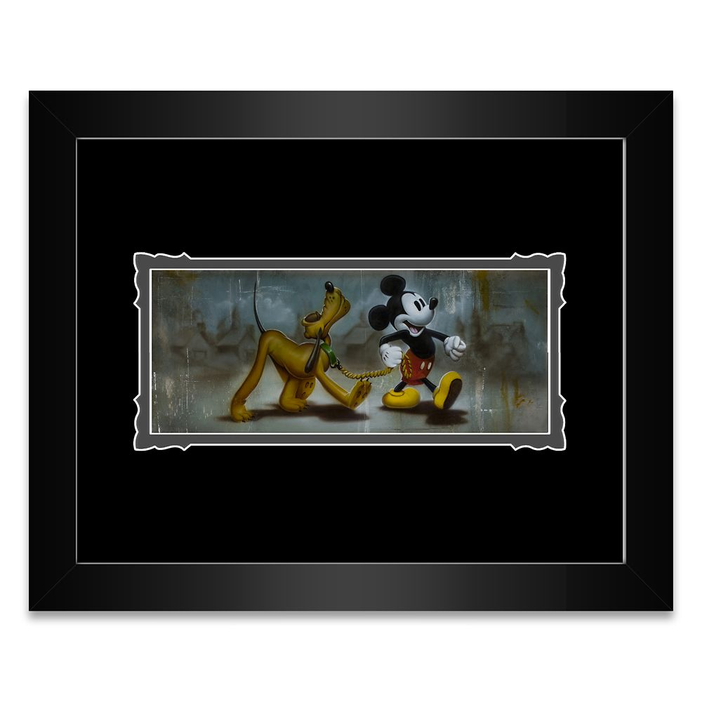 Mickey Mouse and Pluto ''Man's Best Friend'' Framed Deluxe Print by Noah