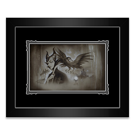 Maleficent ''My Pet You Are My Last Hope'' Framed Deluxe Print by Noah