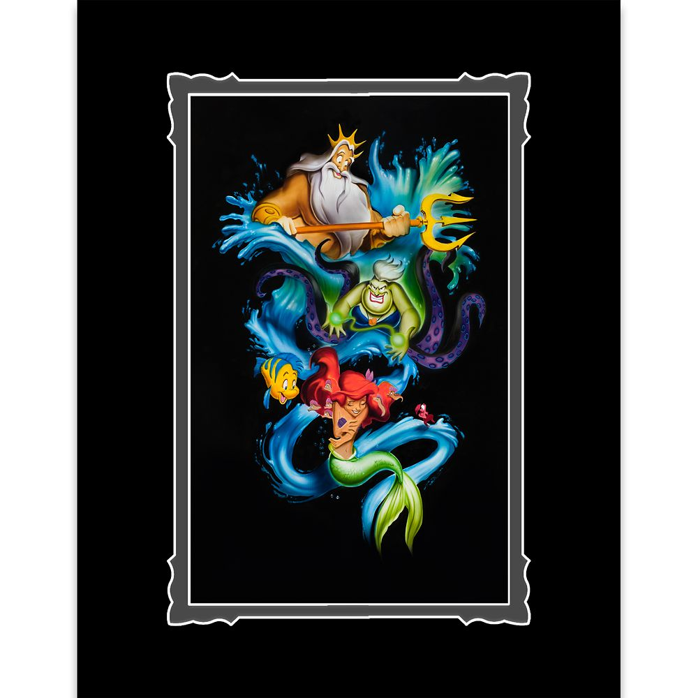 Prints By Deluxe: The Little Mermaid ''Ariel's Innocence'' Deluxe Print By