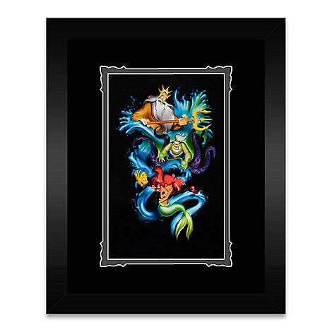The Little Mermaid ''Ariel's Innocence'' Framed Deluxe Print by Noah