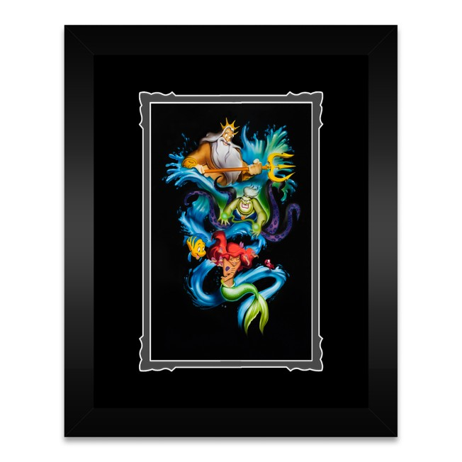 The Little Mermaid ''Ariel's Innocence'' Framed Deluxe Print by Noah