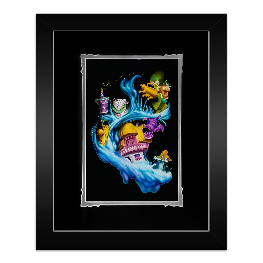 "Alice in Wonderland ""Madness Into Wonder"" Framed Deluxe Print by Noah Official shopDisney"