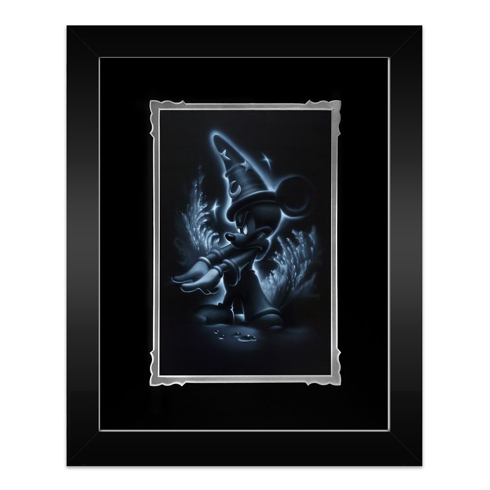''Sorcerer Mickey'' Framed Deluxe Print by Noah