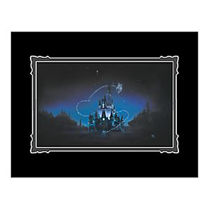 "Cinderella Castle ""40 Magical Years"" Deluxe Print by Noah"