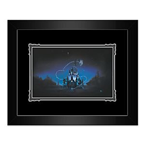 """Cinderella Castle """"40 Magical Years"""" Framed Deluxe Print by Noah"""