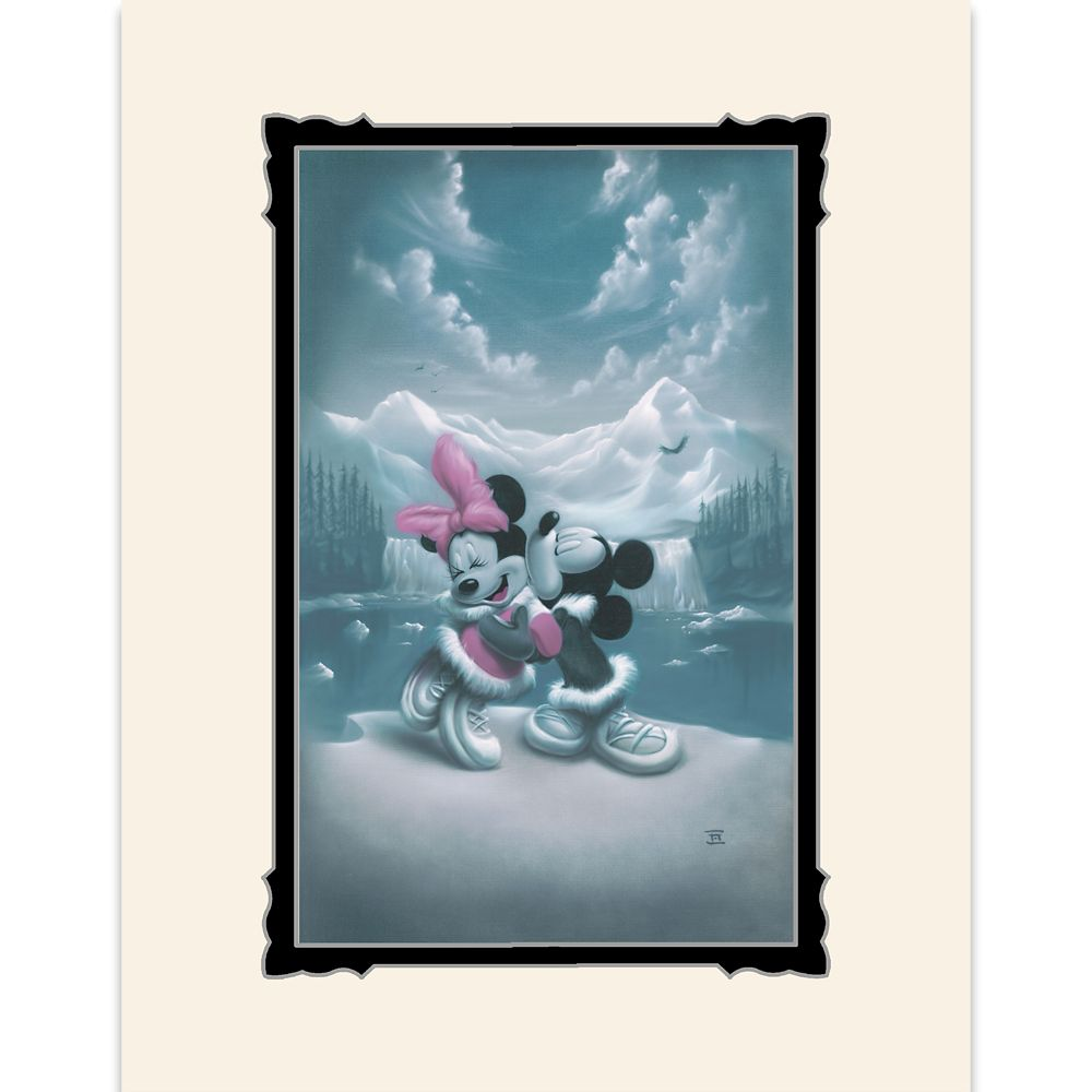 Mickey and Minnie Mouse ''Alaska Adventure (Love is Adventure)'' Deluxe Print by Noah