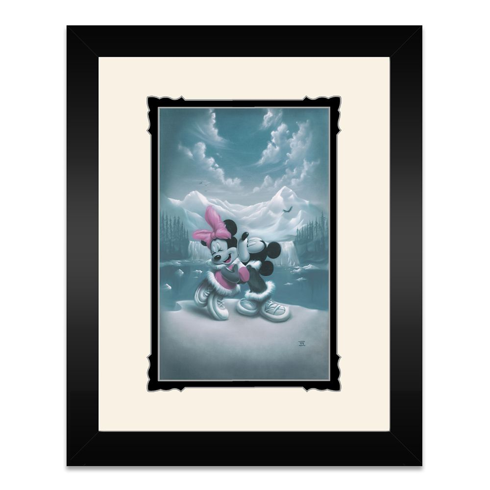 Mickey and Minnie Mouse ''Alaska Adventure (Love is Adventure)'' Framed Deluxe Print by Noah Official shopDisney