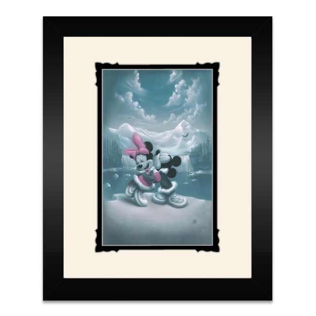 Mickey and Minnie Mouse ''Alaska Adventure (Love is Adventure)'' Framed Deluxe Print by Noah