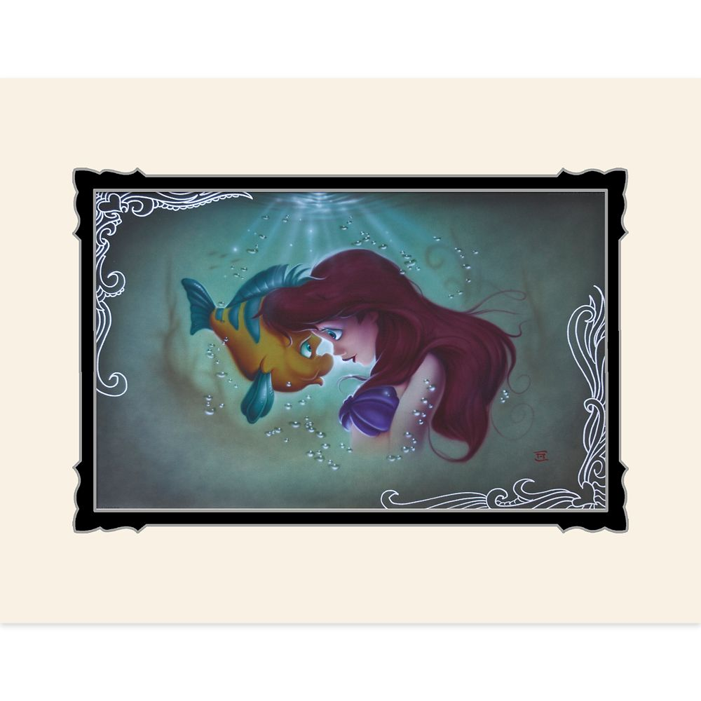 The Little Mermaid ''Ariel Flounder'' Deluxe Print by Noah