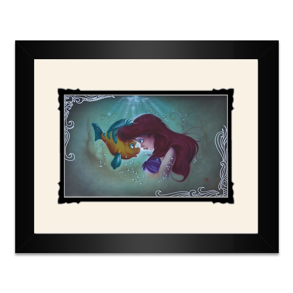The Little Mermaid ''Ariel Flounder'' Framed Deluxe Print by Noah