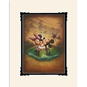 """Mickey and Minnie Mouse """"Life with You Is a Dream"""" Deluxe Print by Noah"""