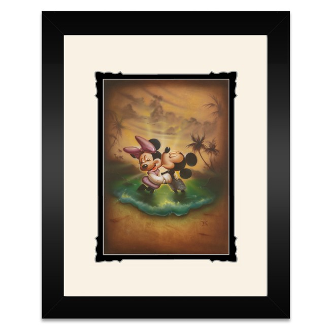 Mickey and Minnie Mouse ''Life with You Is a Dream'' Framed Deluxe Print by Noah