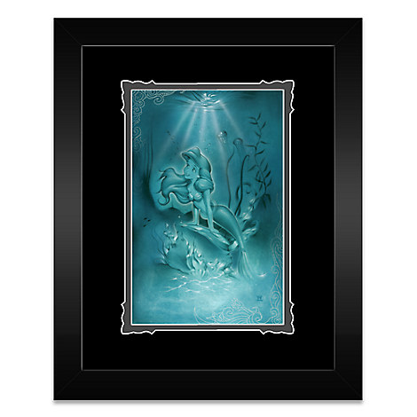 Ariel ''Little Mermaid'' Framed Deluxe Print by Noah
