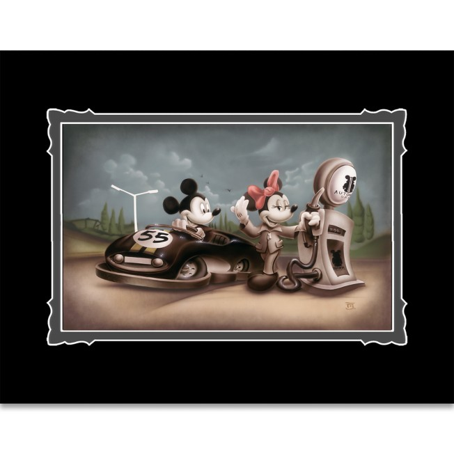 Mickey and Minnie Mouse ''Service with a Smile'' Deluxe Print by Noah