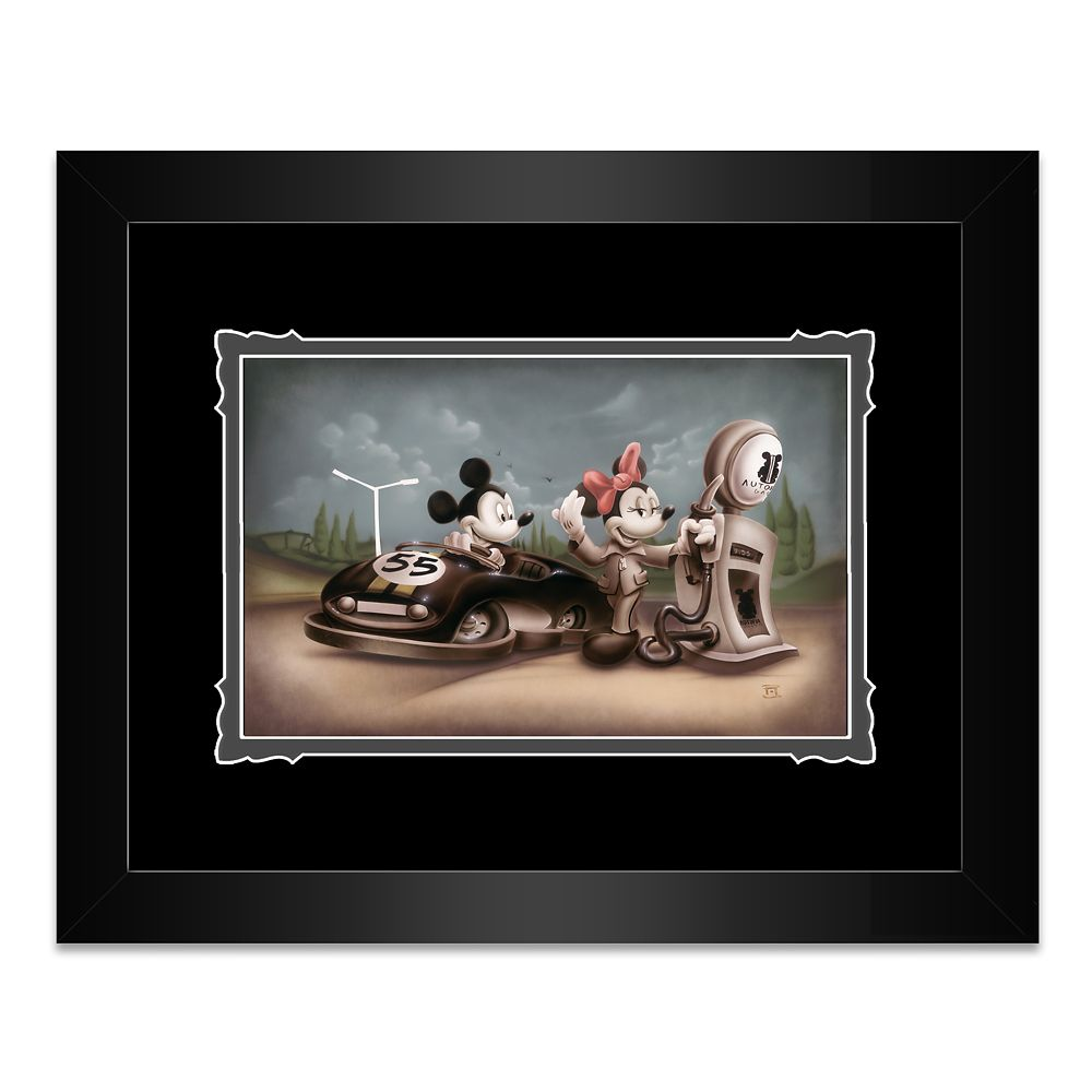 Mickey and Minnie Mouse ''Service with a Smile'' Framed Deluxe Print by Noah Official shopDisney