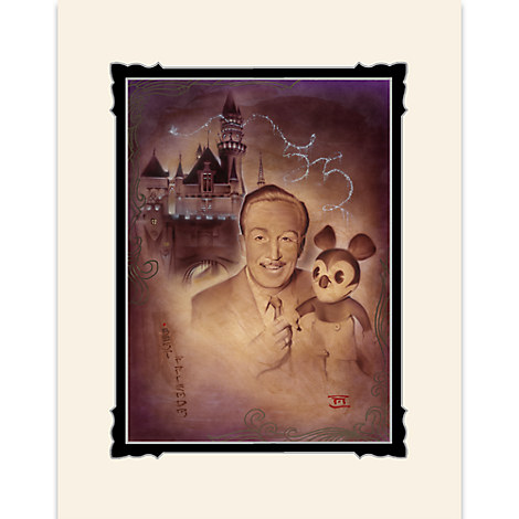 Walt Disney and Mickey Mouse ''Walt and Mickey 55th'' Deluxe Print by Noah