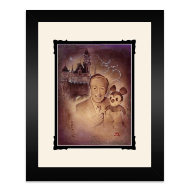 Walt Disney and Mickey Mouse ''Walt and Mickey 55th'' Framed Deluxe Print by Noah