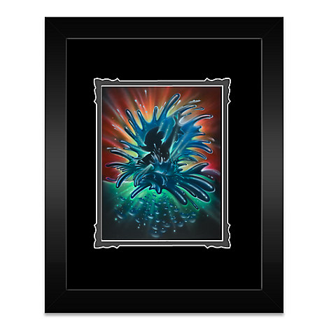 Mickey Mouse ''World of Color'' Framed Deluxe Print by Noah