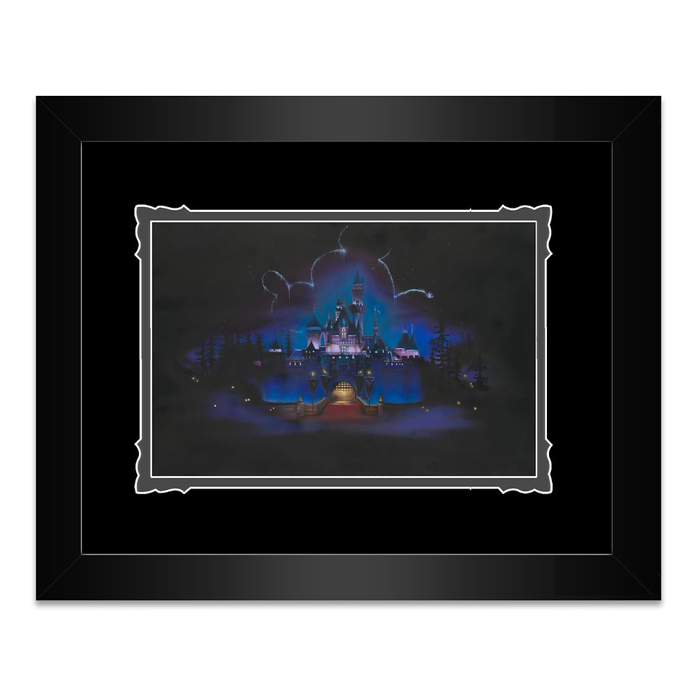 Disneyland ''While Everyone Sleeps'' Framed Deluxe Print by Noah