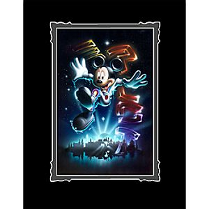 """Mickey Mouse """"The 21st Century Begins"""" Deluxe Print by Noah"""