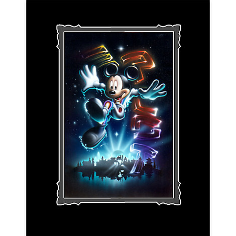 Mickey Mouse ''The 21st Century Begins'' Deluxe Print by Noah