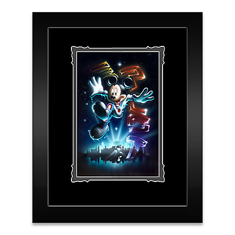 Mickey Mouse ''The 21st Century Begins'' Framed Deluxe Print by Noah