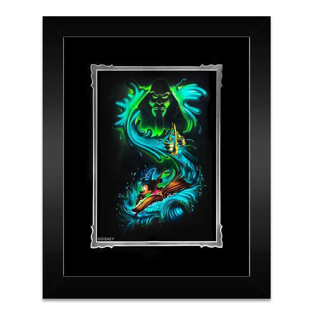 Sorcerer Mickey Mouse ''Waves of Magic'' Framed Deluxe Print by Noah