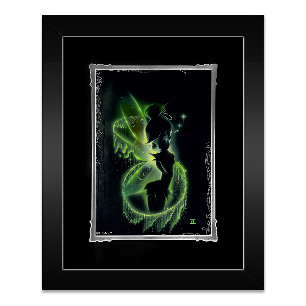 Tinker Bell ''Faith, Trust and Pixie Dust'' Framed Deluxe Print by Noah Official shopDisney