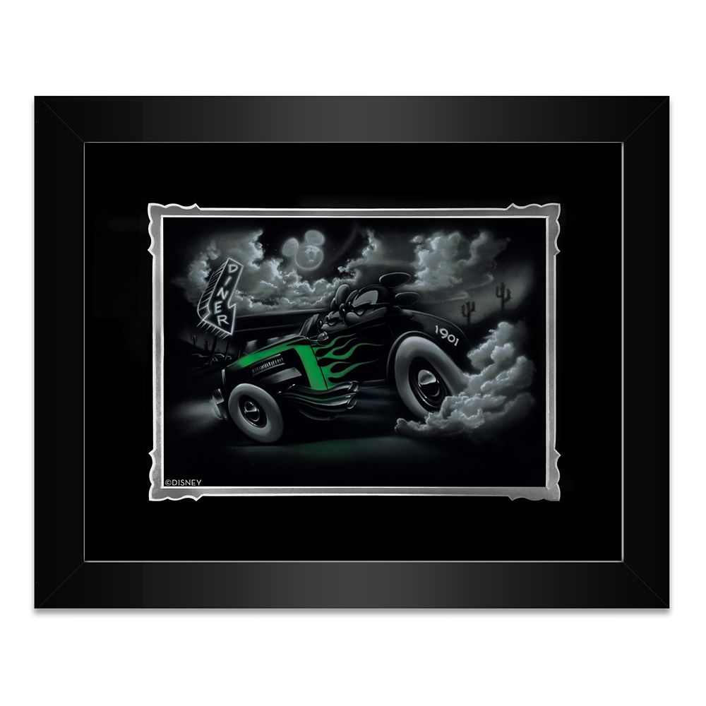 Mickey and Minnie Mouse ''Out for a Cruise'' Framed Deluxe Print by Noah