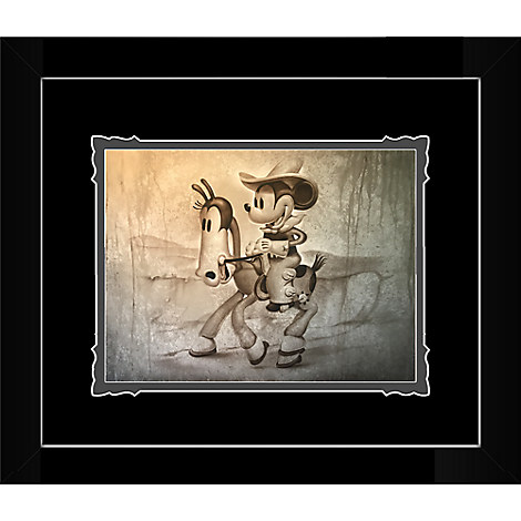 Mickey Mouse ''There's a New Sheriff in Town'' Framed Deluxe Print by Noah
