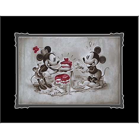 Mickey and Minnie Mouse ''The Way to His Heart'' Deluxe Print by Noah