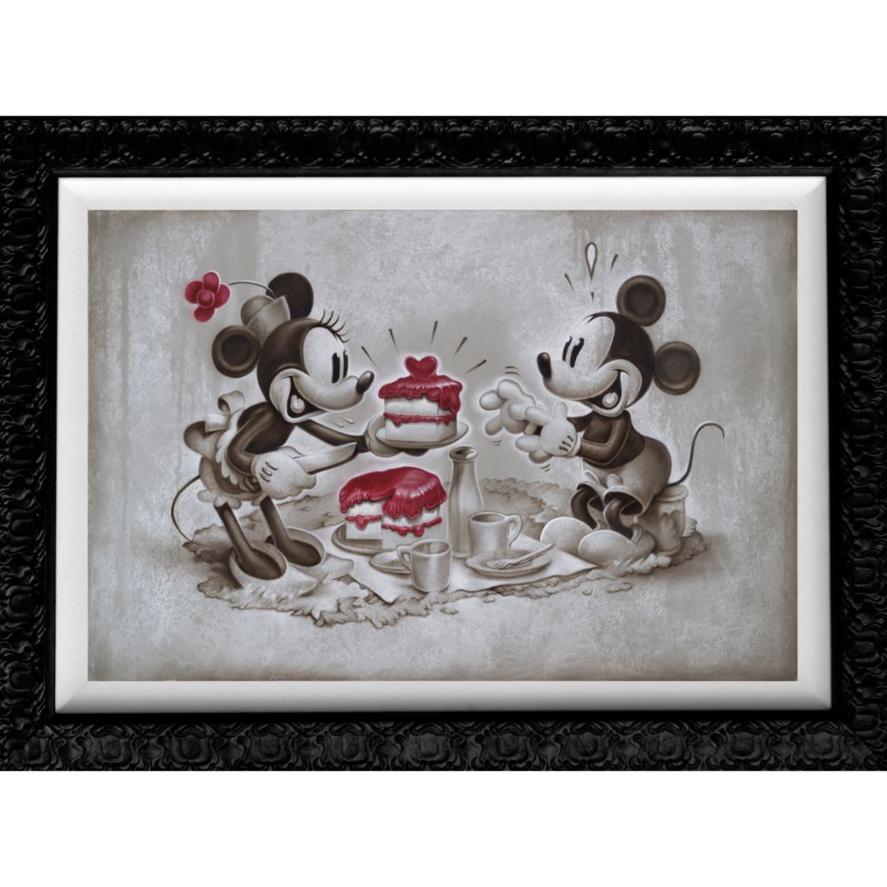 Mickey and Minnie Mouse ''The Way to His Heart'' Giclée by Noah