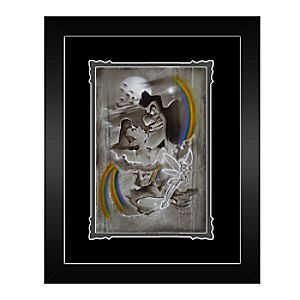 Peter Pan ''Fighting for Never Land'' Framed Deluxe Print by Noah