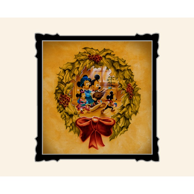 Mickey and Minnie Mouse ''It's Better to Give Than to Receive'' Deluxe Print by Noah