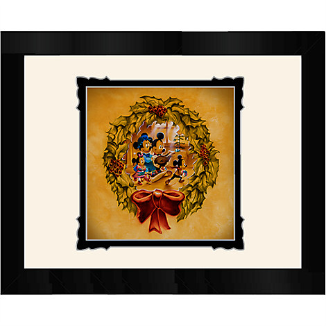 Mickey and Minnie Mouse ''It's Better to Give Than to Receive'' Framed Deluxe Print by Noah