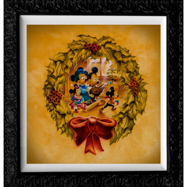 Mickey and Minnie Mouse ''It's Better to Give Than to Receive'' Giclée by Noah