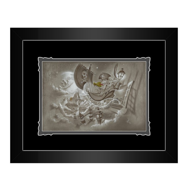 Peter Pan ''Journey to Never Land'' Framed Deluxe Print by Noah