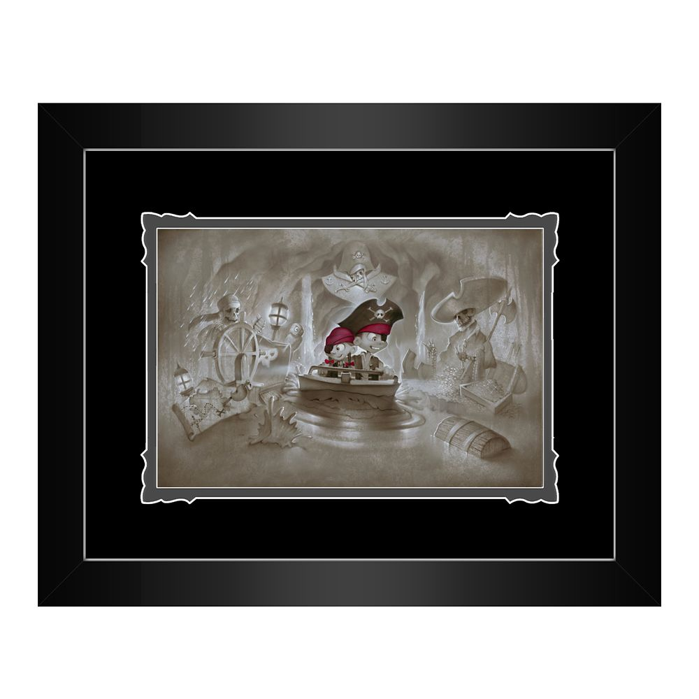 Pirates of the Caribbean ''Thar' Be Pirates in These Parts'' Framed Deluxe Print by Noah
