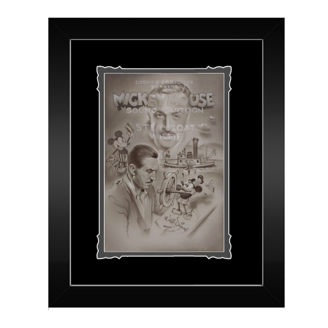 Steamboat Willie ''Full Steam Ahead'' Framed Deluxe Print by Noah
