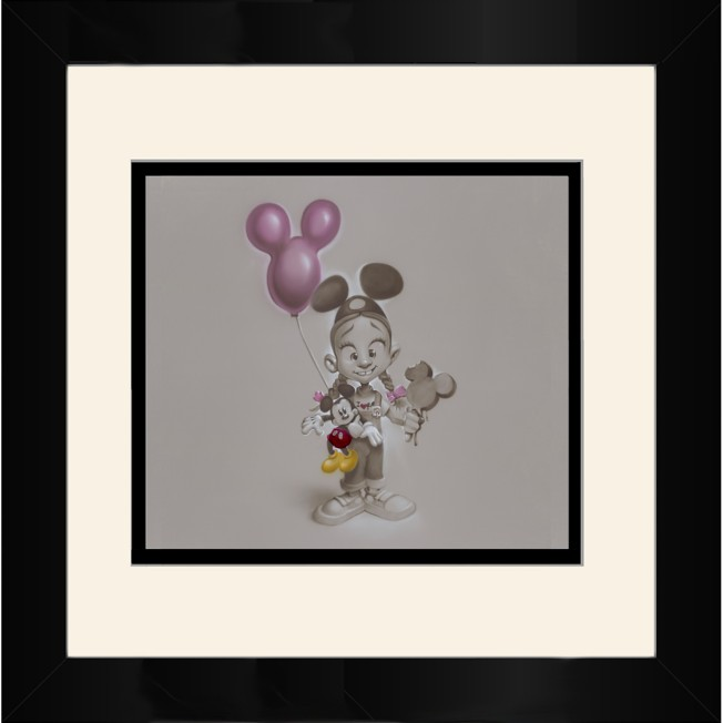 ''Making Mickey Memories'' Framed Deluxe Print by Noah